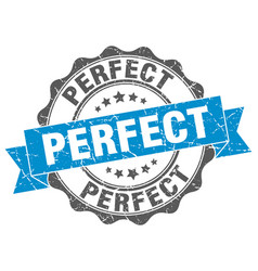 Perfect stamp sign seal vector