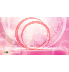 Pink glamorous circles waves sparkling effects vector
