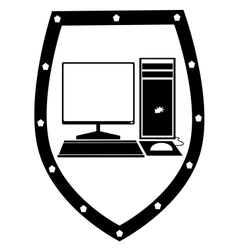 Protect your computer vector image