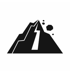 Rockfall icon simple style vector image vector image