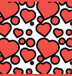 romantic heart love pattern image vector image