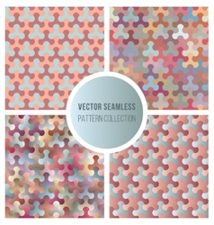 Seamless gradient color pattern collection vector
