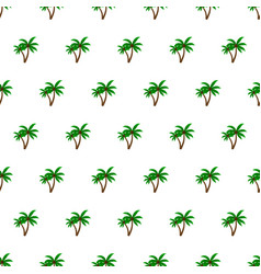 seamless pattern summer beach palm tree vector image vector image