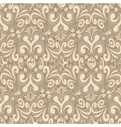 Seamless vintage light background vector