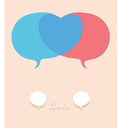 Talk abount in love vector image