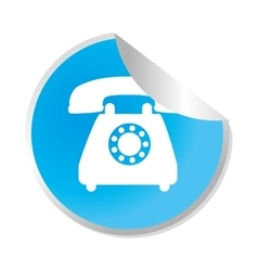 Telephone service sticker icon vector