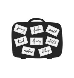 Travel inspiration words lettering set vector