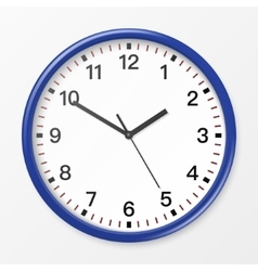 wall office clock vector image vector image