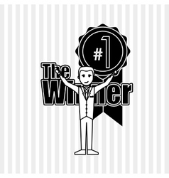 Winner icon design editable vector image