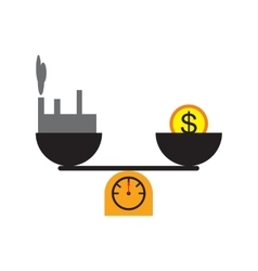 Modern flat icon house and money on scales vector