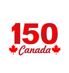 Fireworks on canada 150 vector
