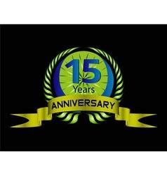 15 year anniversary celebration vector
