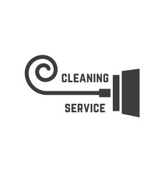 vacuum cleaner like cleaning service logo vector image
