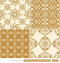 Vintage cream backgrounds vector