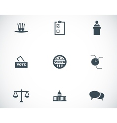 black electiion icons set vector image