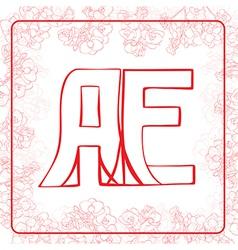 AE monogram vector image