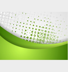 Abstract green grunge wavy background vector image
