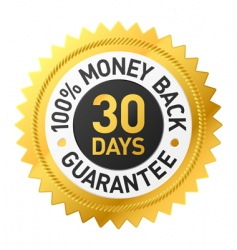 30 days Money back label vector image
