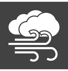 Windy and cloudy vector