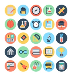 Education and knowledge icons 1 vector