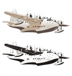 Retro seaplane vector