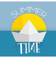 Summer time card web icon vector