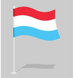 Luxembourg flag official national sign of grand vector