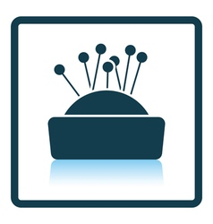 Pin cushion icon vector