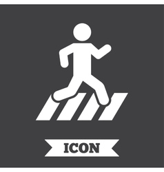 Crosswalk icon crossing street sign vector