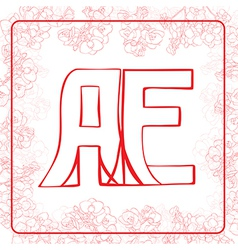Ae monogram vector