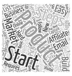 Affiliate marketing how to get started in easy vector