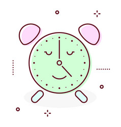 Alarm clock retro icon vector