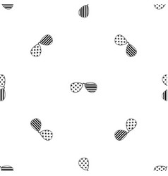 American glasses pattern seamless black vector