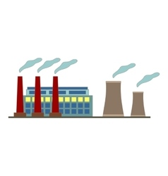 Big factory icon in flat style design vector