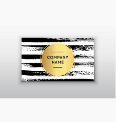 black and gold design business card abstract vector image