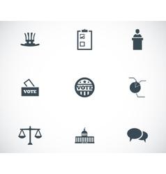 black electiion icons set vector image