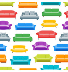 cartoon sofa or divan background pattern on a vector image