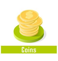 coins icon symbol vector image