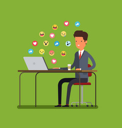 Concept of procrastination vector