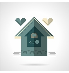 Family house flat icon vector image