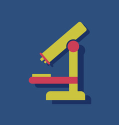 Flat icon design collection medical microscope in vector
