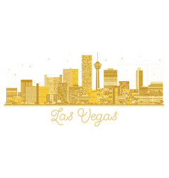 las vegas usa city skyline golden silhouette vector image