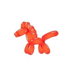 Red balloon horse vector