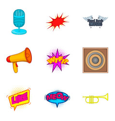speaker icons set cartoon style vector image vector image