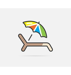 Sunbed can be used as logo or icon vector