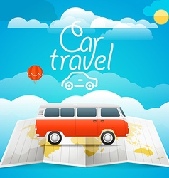 Vacation concept car travel vector