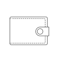 wallet safety money accessory image outline vector image