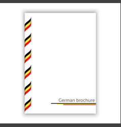 white brochure with ribbon in german tricolor vector image vector image