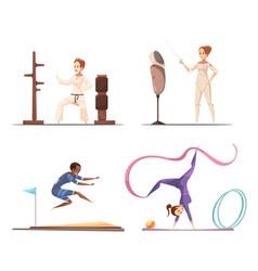 Women do sports collection vector