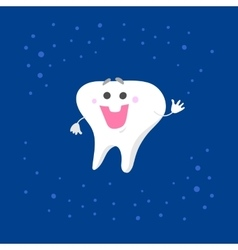 Smiling tooth character vector